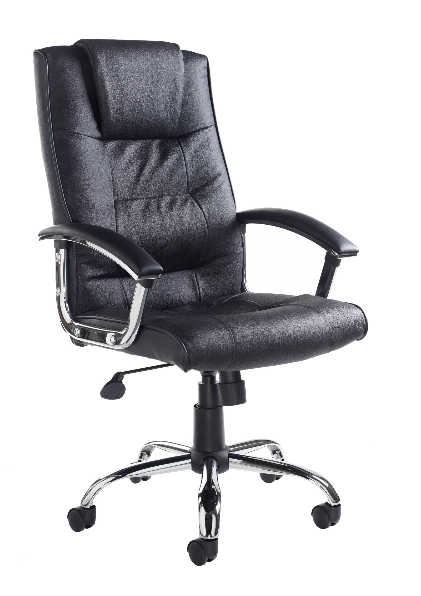 Next Day Somerset Executive High Back Chair Black Faux
