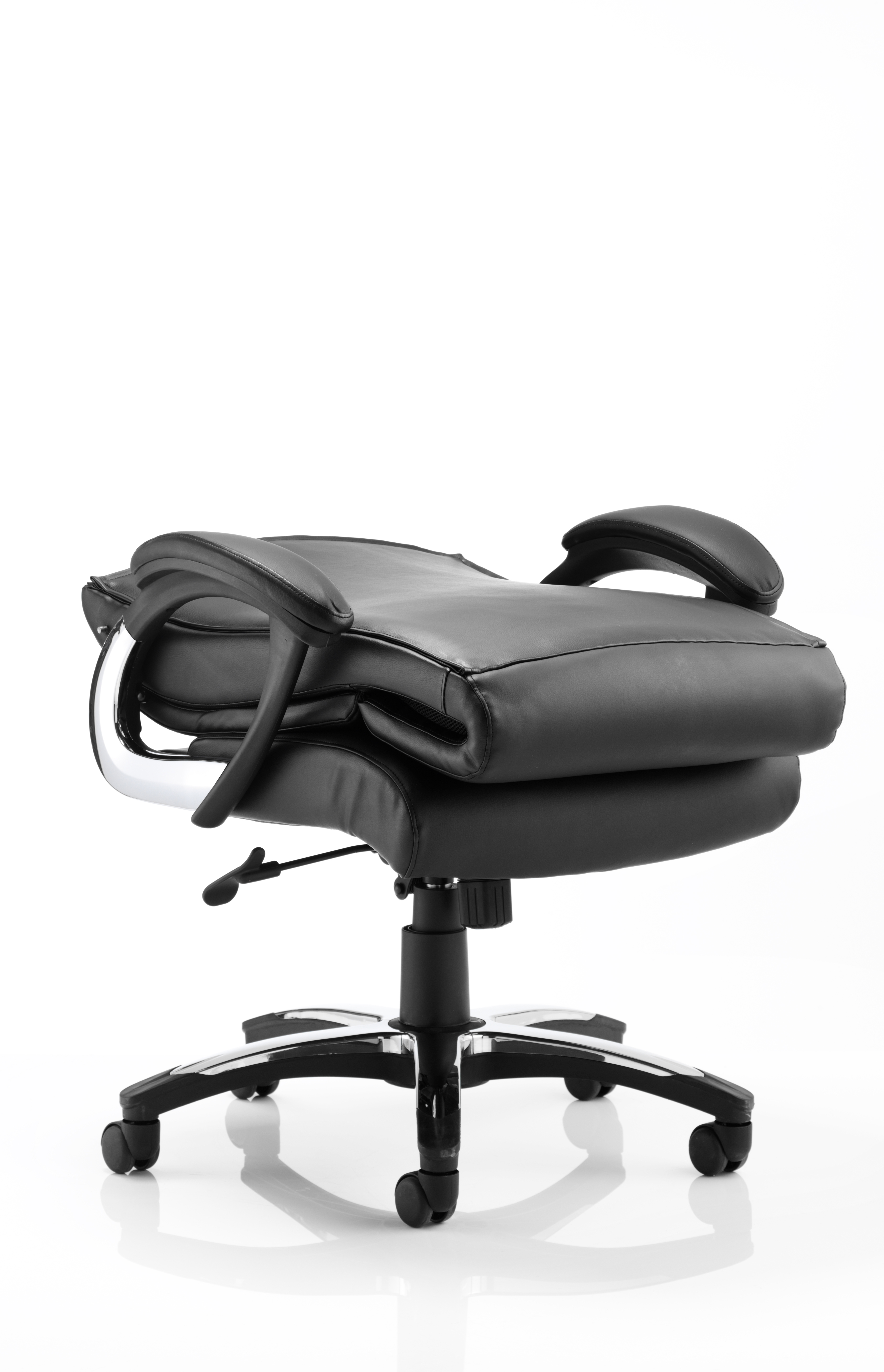 Next Day Romeo Executive Folding Leather Office Chair Black