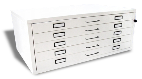 An image of A0 Milano Metal Plan Chest 5 Drawer