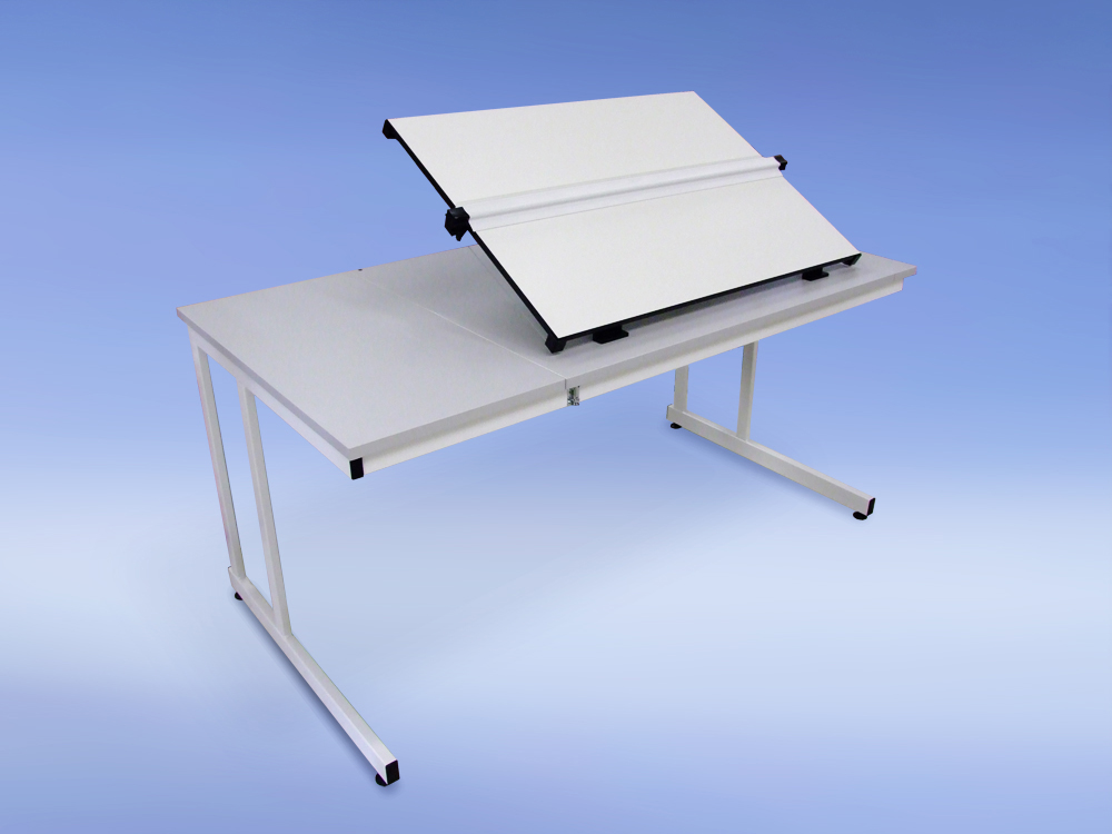 An image of A1 Flip Top Drawing Table - Cantilever Leg