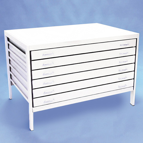 An image of A0 Metal Plan Chest 6 Drawer
