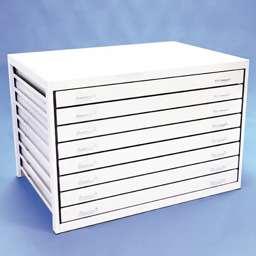 An image of A0 Metal Plan Chest 8 Drawer
