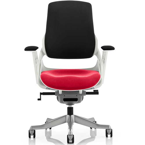 An image of Zephyr Executive Office Chair - Cherry Red Seatpad with Arms
