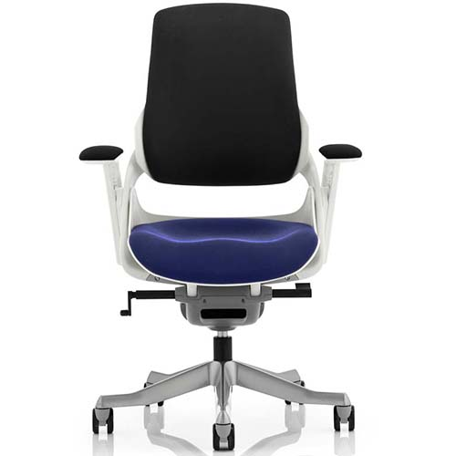An image of Zephyr Executive Office Chair - Stevia Blue Seatpad with Arms