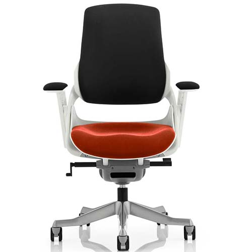 An image of Zephyr Executive Office Chair - Tobasco Red Seatpad with Arms