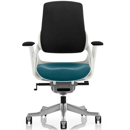 An image of Zephyr Executive Office Chair - Teal Seatpad with Arms