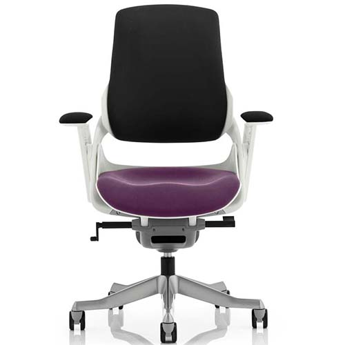 An image of Zephyr Executive Office Chair - Purple Seatpad with Arms