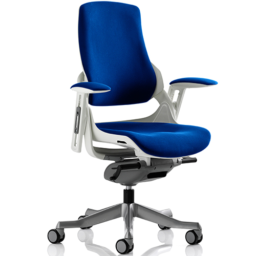 An image of Zephyr Stevia Blue Executive Office Chair - With Arms