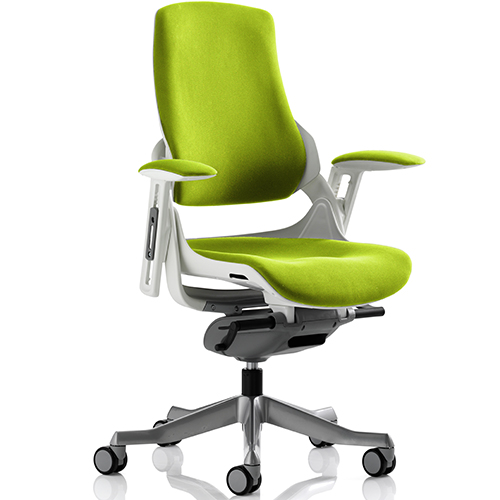 An image of Zephyr Lime Green Executive Office Chair - With Arms