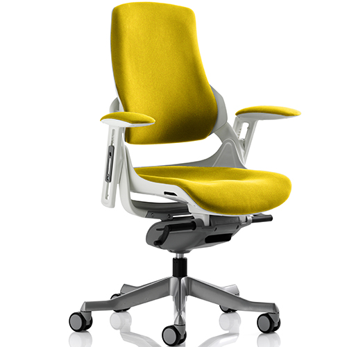 An image of Zephyr Yellow Executive Office Chair - With Arms