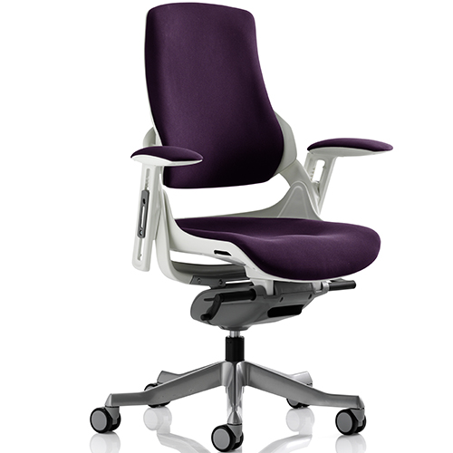 An image of Zephyr Purple Executive Office Chair - With Arms